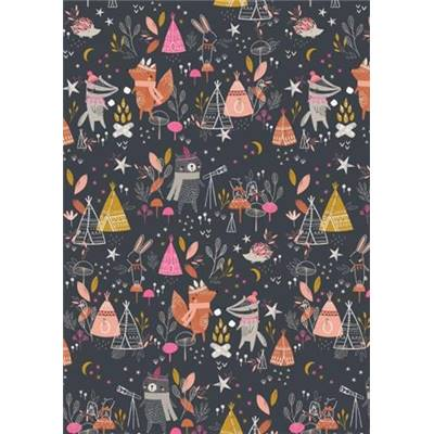 TISSU DASHWOOD - UNDER THE STARS 1554 - COTON - 110 CM - mini 5 m