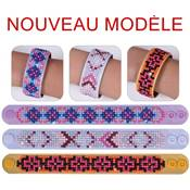 KIT BRODERIE DIAMANT - LOT 3 BRACELETS DESSINS GEOMETRIQUES