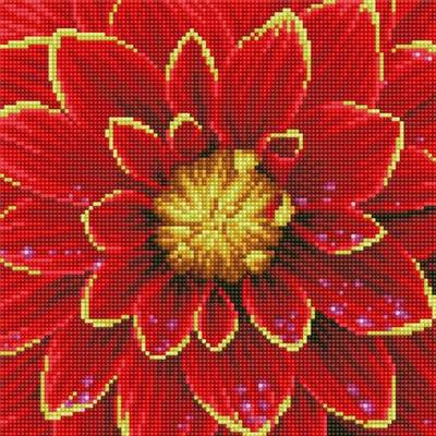 KIT BRODERIE DIAMANT - DAHLIA ROUGE