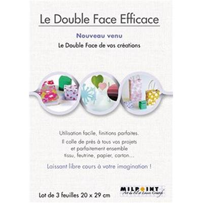 LE DOUBLE-FACE EFFICACE - LOT DE 3 FEUILLES 29 X 20 CM