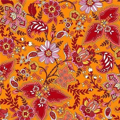 TISSU DASHWOOD STUDIO - ACE LAWN - 1683L ORANGE - COTON - 148 CM