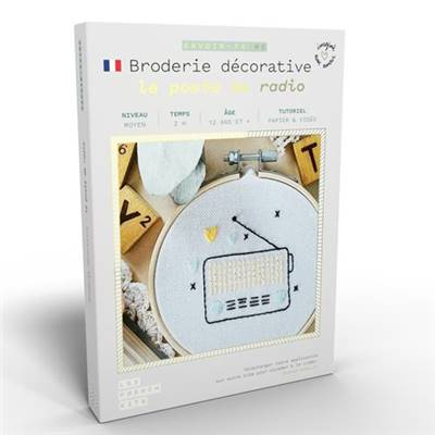 FRENCH KITS - BRODERIE DÉCORATIVE - LE POSTE DE RADIO