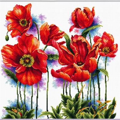 NO COUNT CROSS STITCH - ADORABLES COQUELICOTS