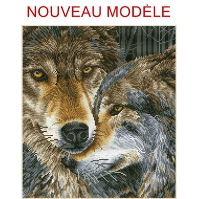 KIT BRODERIE DIAMANT - LE COUPLE DE LOUPS