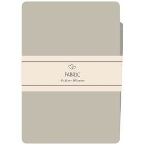 COUPON TISSU IMPRIME 100% COTON - FAT QUARTER 47X55CM -BEIGE