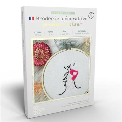 FRENCH KITS - BRODERIE DÉCORATIVE - PREMIER BAISER