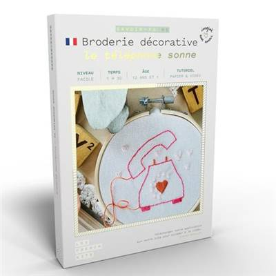 FRENCH KITS - BRODERIE DÉCORATIVE - LE TELEPHONE SONNE
