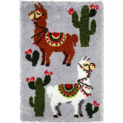 KIT TAPIS POINT NOUE 50 X 75 CM - LAMAS ET CACTUS