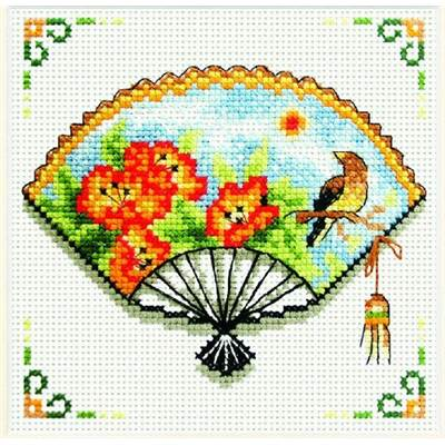 NO COUNT CROSS STITCH - NASTURTIUM EVENTAIL