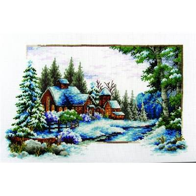 NO COUNT CROSS STITCH - UN HIVER ENNEIGE