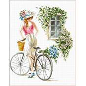 NO COUNT CROSS STITCH - LA JEUNE FILLE A VELO