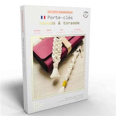 FRENCH'KITS - DIY - PORTE CLÉS - NŒUD & TORSADE