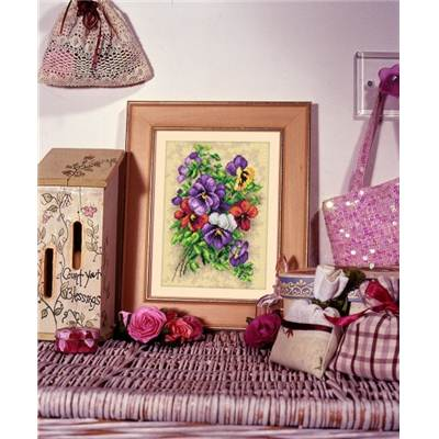 KIT BRODERIE - DECORATION FLORALE
