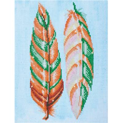 KIT BRODERIE DIAMANT - PLUMES DECO