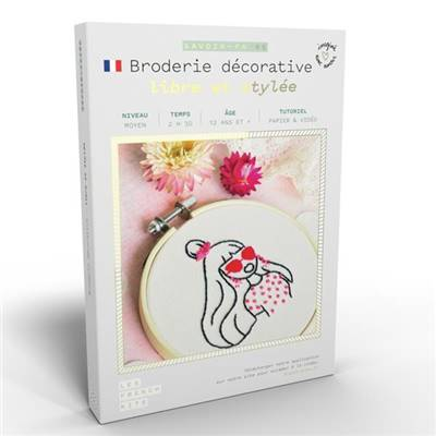 FRENCH KITS - BRODERIE DÉCORATIVE - LIBRE ET STYLEE