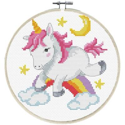 NO COUNT CROSS STITCH - UNICORN FROLIC