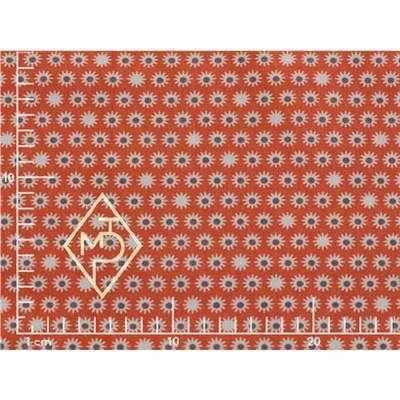 TISSU 100% COTON - MINI SOLEILS ORANGE -160 CM- MINIMUM 5 M