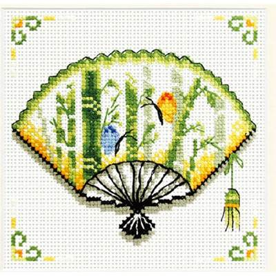 NO COUNT CROSS STITCH - BAMBOO FAN