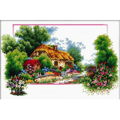 NO COUNT CROSS STITCH - ENGLISH COTTAGE LANE