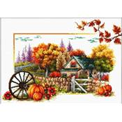 NO COUNT CROSS STITCH - UNE FERME EN AUTOMNE