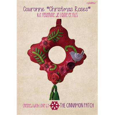 KIT COURONNE CHRISTMAS ROSES
