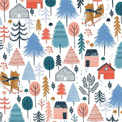 TISSU DASHWOOD STUDIO - SNOW MUCH FUN 1702 - COTON - 110 CM