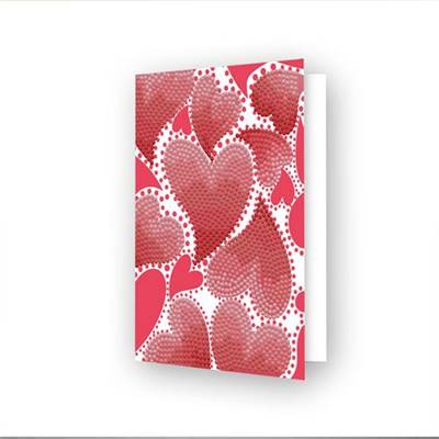 CARTE DE VOEUX DIAMOND DOTZ - HEARTS SWIRL