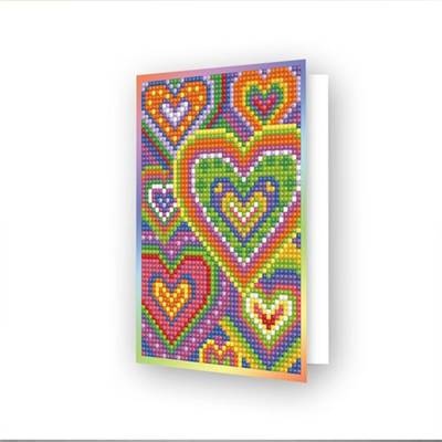 CARTE DE VOEUX DIAMOND DOTZ - HEART MOSAIC