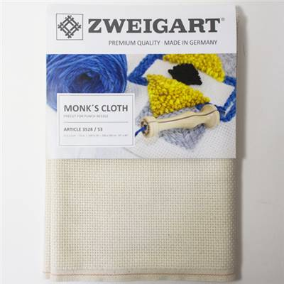 COUPON 100X140CM MONK'S CLOTH POUR PUNCH NEEDLE AIDA COTON 3.1 PTS/CM