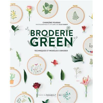BRODERIE GREEN - PLUS DE 50 MOTIFS D'INSPIRATION NATURE