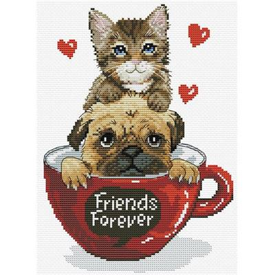 NO COUNT CROSS STITCH - FRIENDS FOREVER