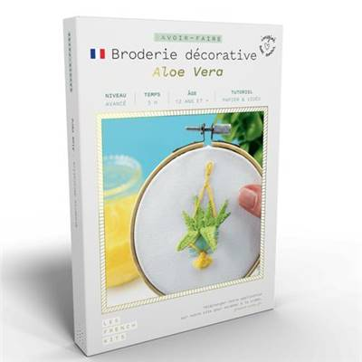 FRENCH'KITS - BRODERIE DÉCORATIVE - ALOE VERA