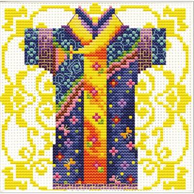 NO COUNT CROSS STITCH - KIMONO BLEU POUR MONSIEUR
