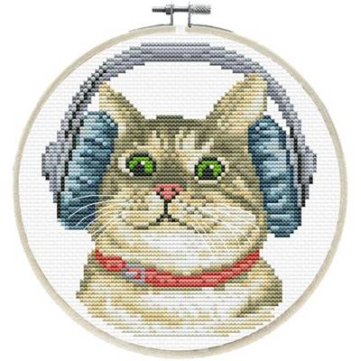 NO COUNT CROSS STITCH - DJ KITTY