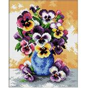 NO COUNT CROSS STITCH - LE VASE AUX PENSEES