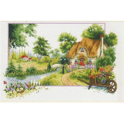 NO COUNT CROSS STITCH - LE COTTAGE EN ETE