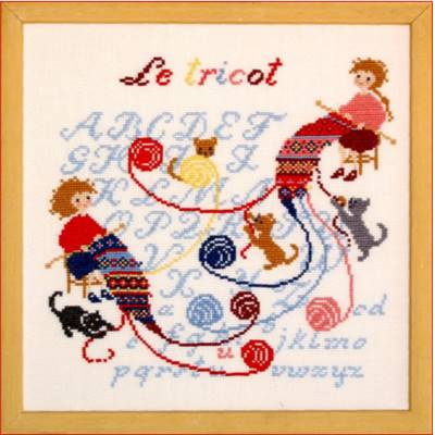 DIAGRAMME POINT DE CROIX ABC COLLECTION - LE TRICOT