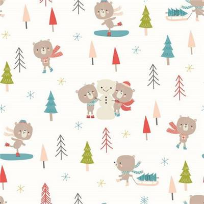 TISSU DASHWOOD -CHRISTMAS PARTY 1526 - COTON - 110 CM - mini 5 m