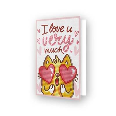 CARTE DE VOEUX DIAMOND DOTZ - LOVE YOU