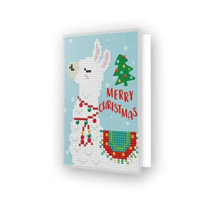 CARTE DE VOEUX DIAMOND DOTZ - MERRY CHRISTMAS LLAMA