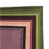 PACK XL VENDANGES 12 COLORIS DE FEUTRINE 30x30cm