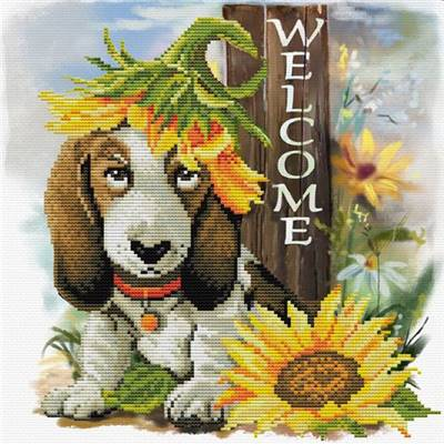 NO COUNT CROSS STITCH - SUNFLOWER HOUND