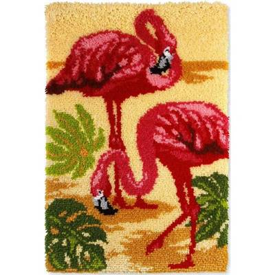 KIT TAPIS POINT NOUE 50 X 75 CM - DUO DE FLAMAND ROSES