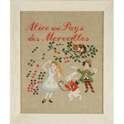 DIAGRAMME POINT DE CROIX ABC COLLECTION-ALICE AU PAYS DES MERVEILLES