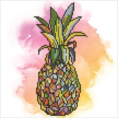 KIT DIAMOND ART INTERMEDIAIRE - PINEAPPLE