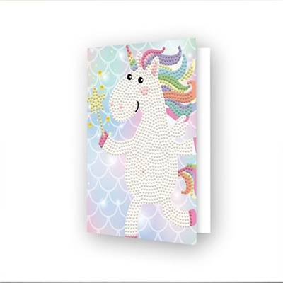 CARTE DE VOEUX DIAMOND DOTZ - UNICORN WISH