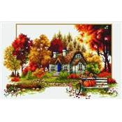 NO COUNT CROSS STITCH - LE COTTAGE EN AUTOMNE