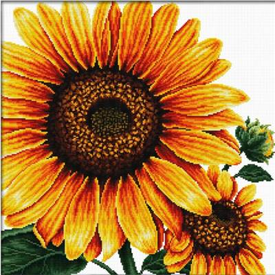 NO COUNT CROSS STITCH - TOURNESOL