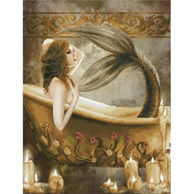 KIT BRODERIE DIAMANT - BATH TIME MERMAID