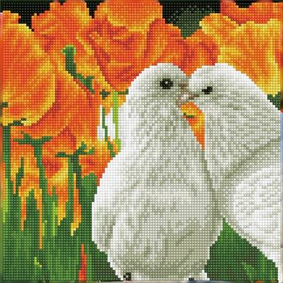 KIT BRODERIE DIAMANT - KISSING DOVES